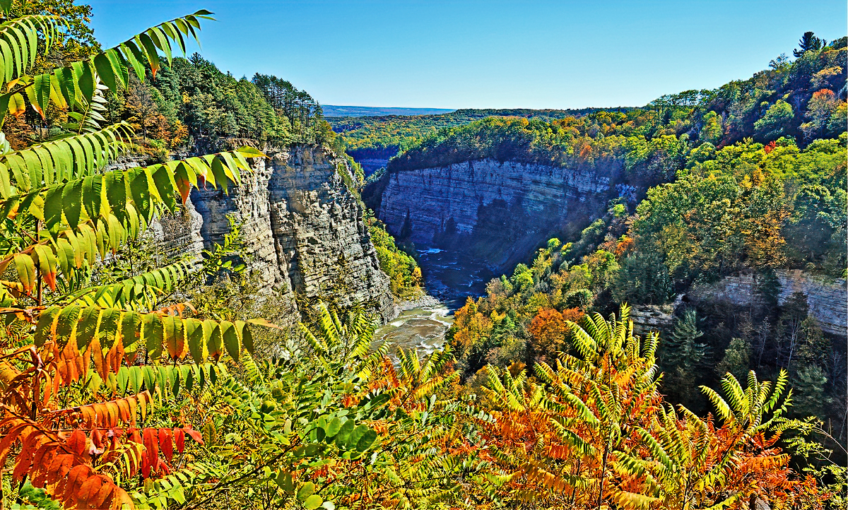 Hiking is the most popular activity in Letchworth State Park.