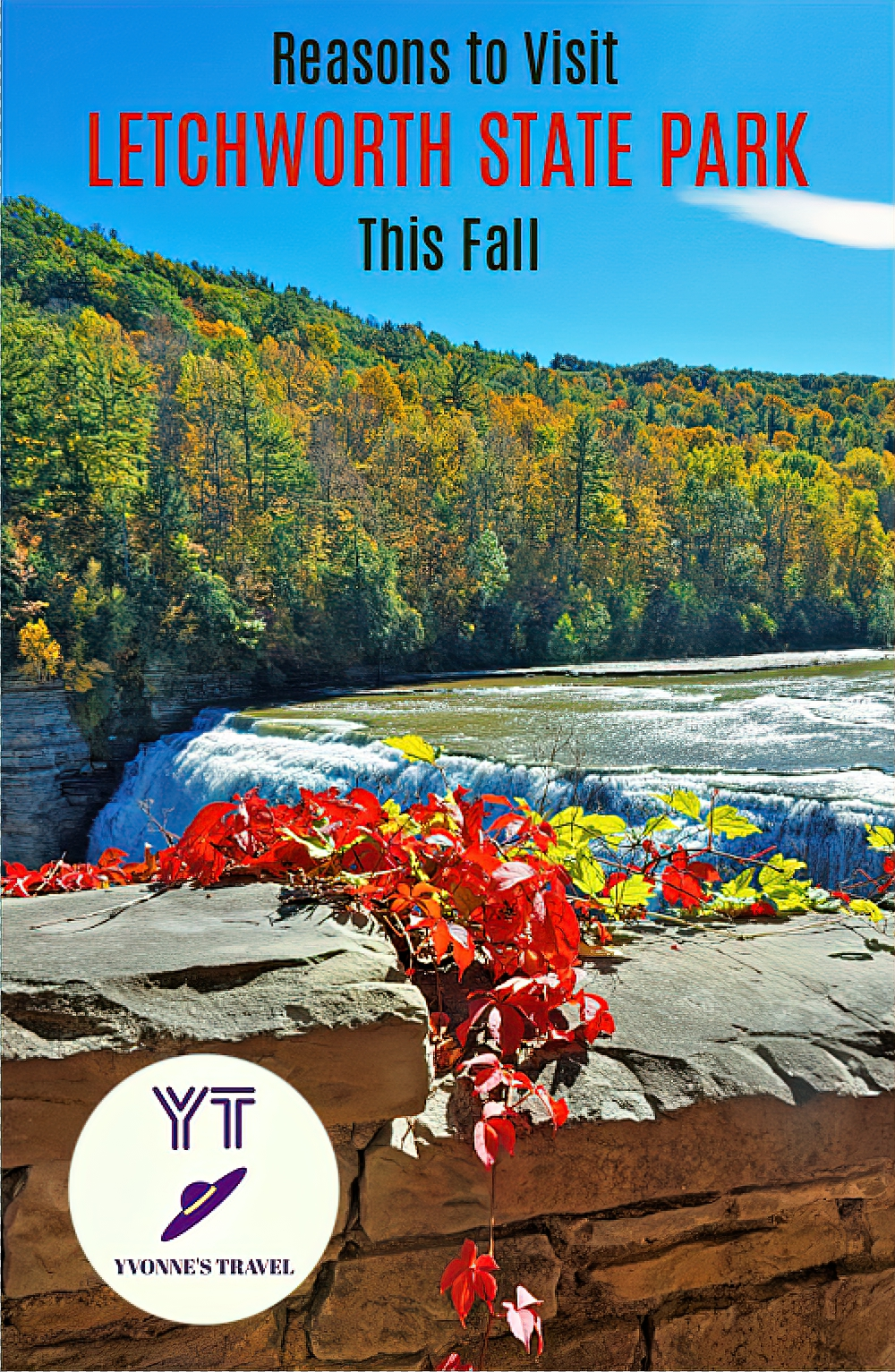 Letchworth State Park offers incredible beauty all year round, but when the fall season arrives, it turns into a colorful masterpiece.