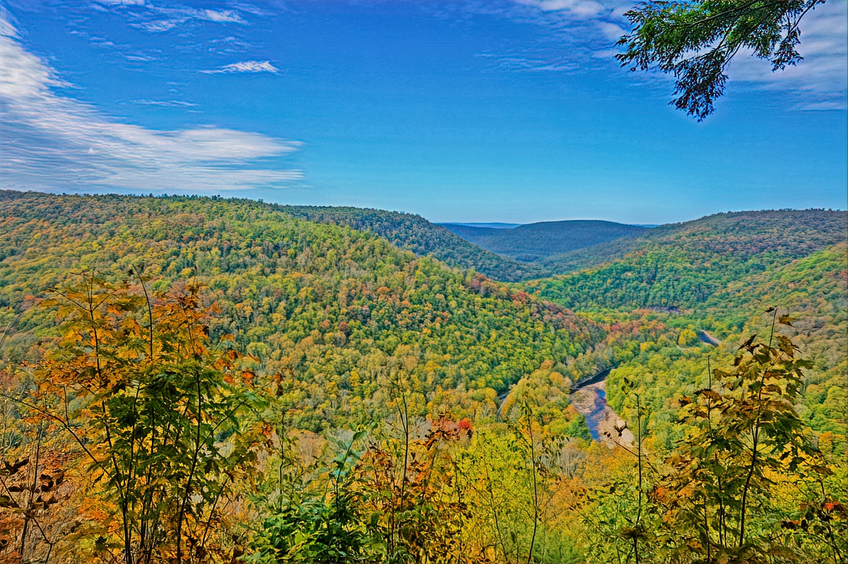 Loyalsock Canyon Vista can be reached by hiking but you can drive to it too.