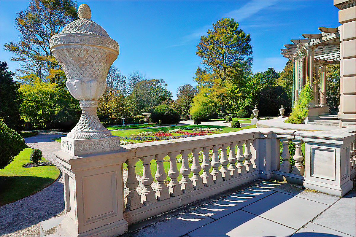 Gardens at the Elms mansion - Newport, RI.