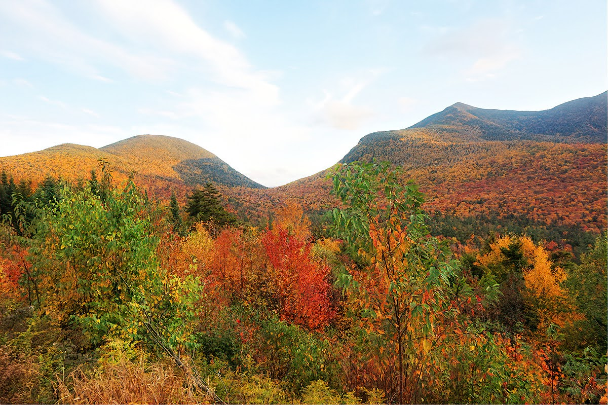 Franconia Notch State Park is fantastic destination for the fall drive.