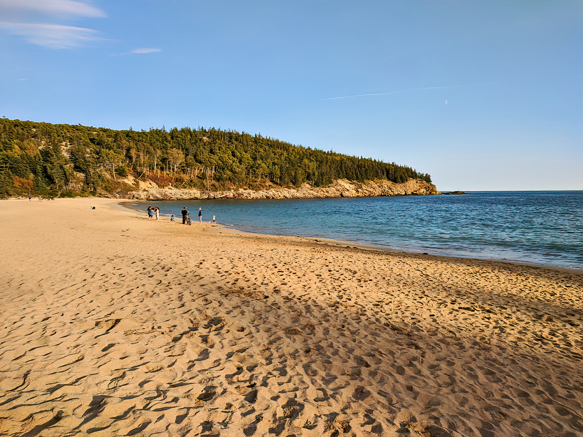 Swimming is allowed at Sand Beach but you will not find many volunteers