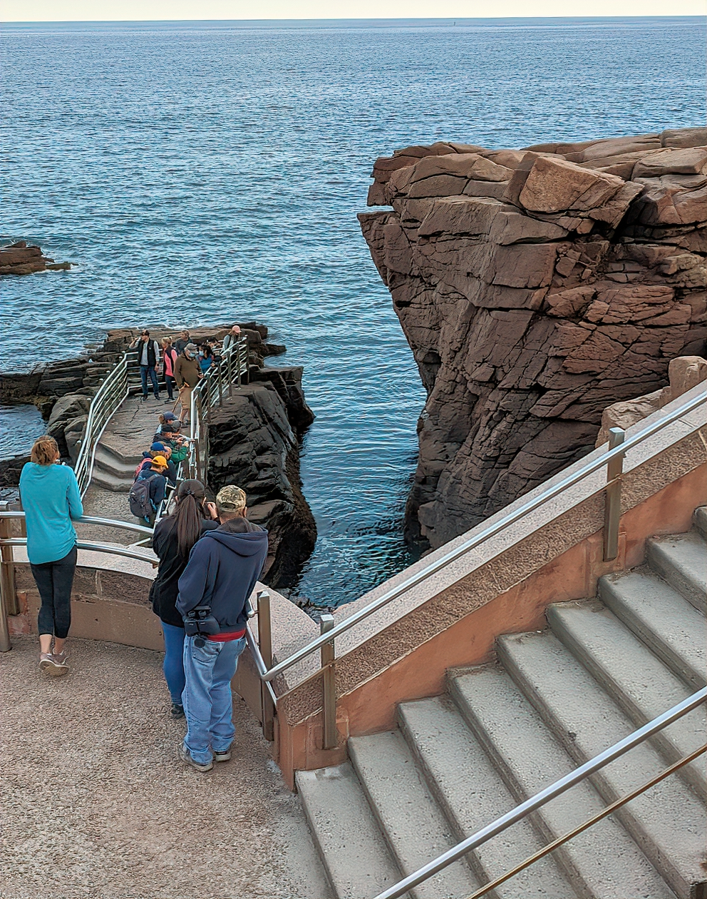 During my recent visit, Thunder Hole showed no desire to thunder.