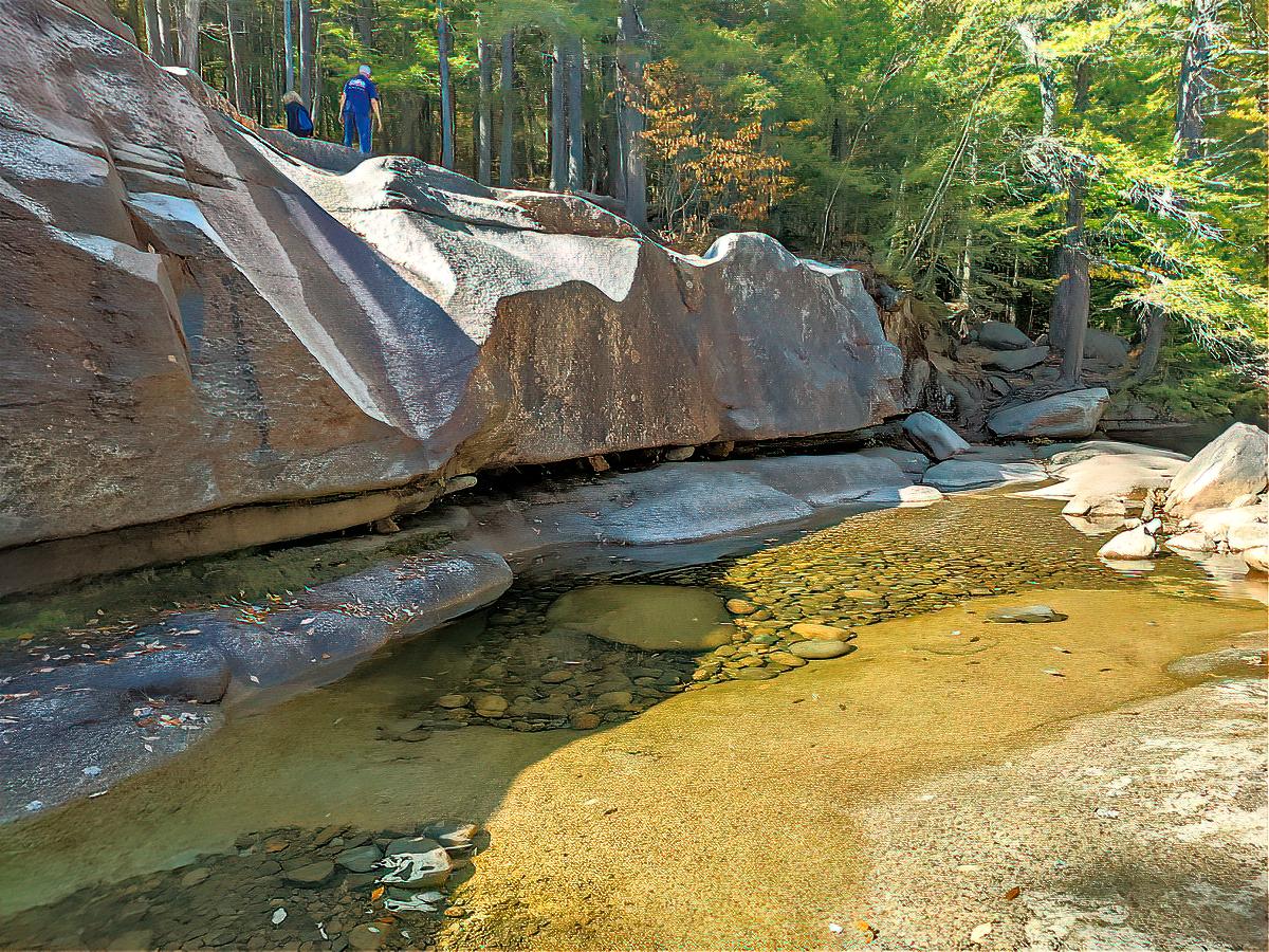 A natural pool at Diana's Bath.