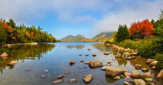 Jordan Pond in Acadia National Park.