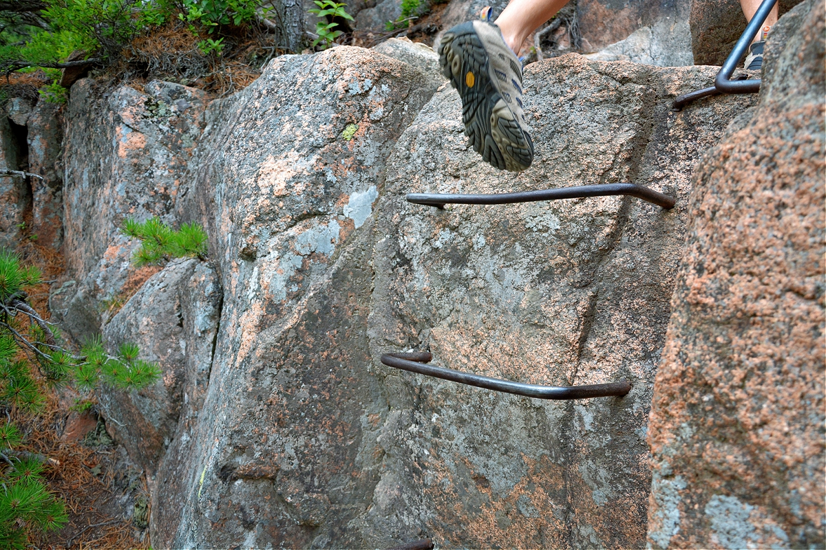 You will find many challenging hikes at Acadia National Park.