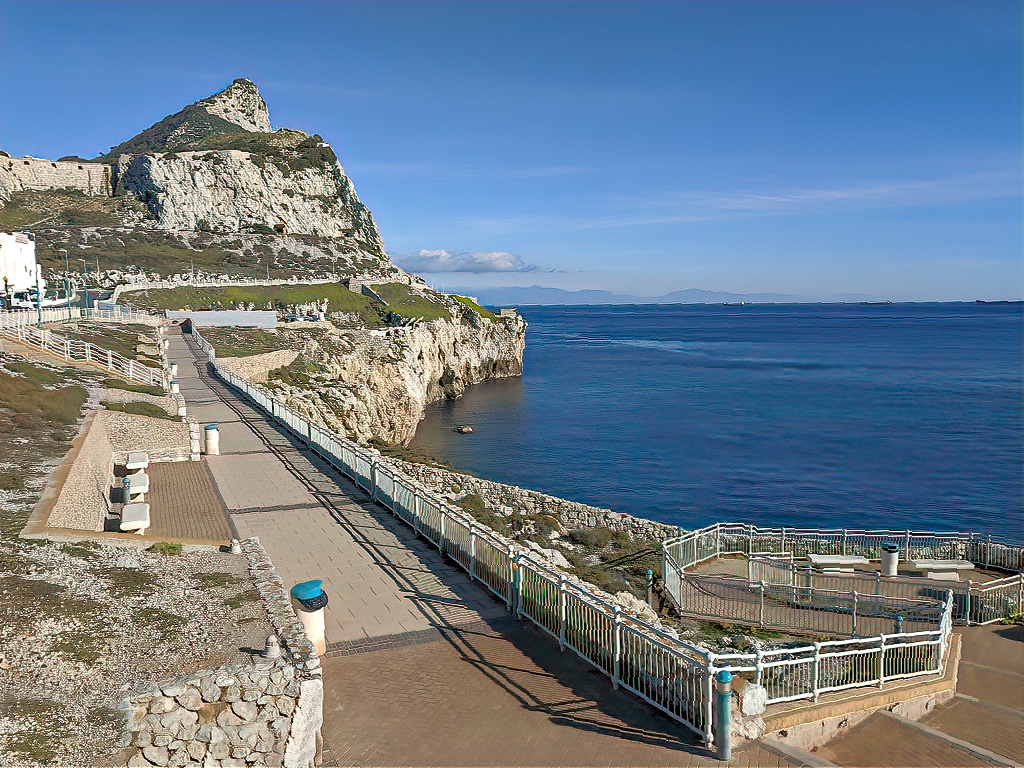 Rock of Gibraltar as seen from Point Europa.