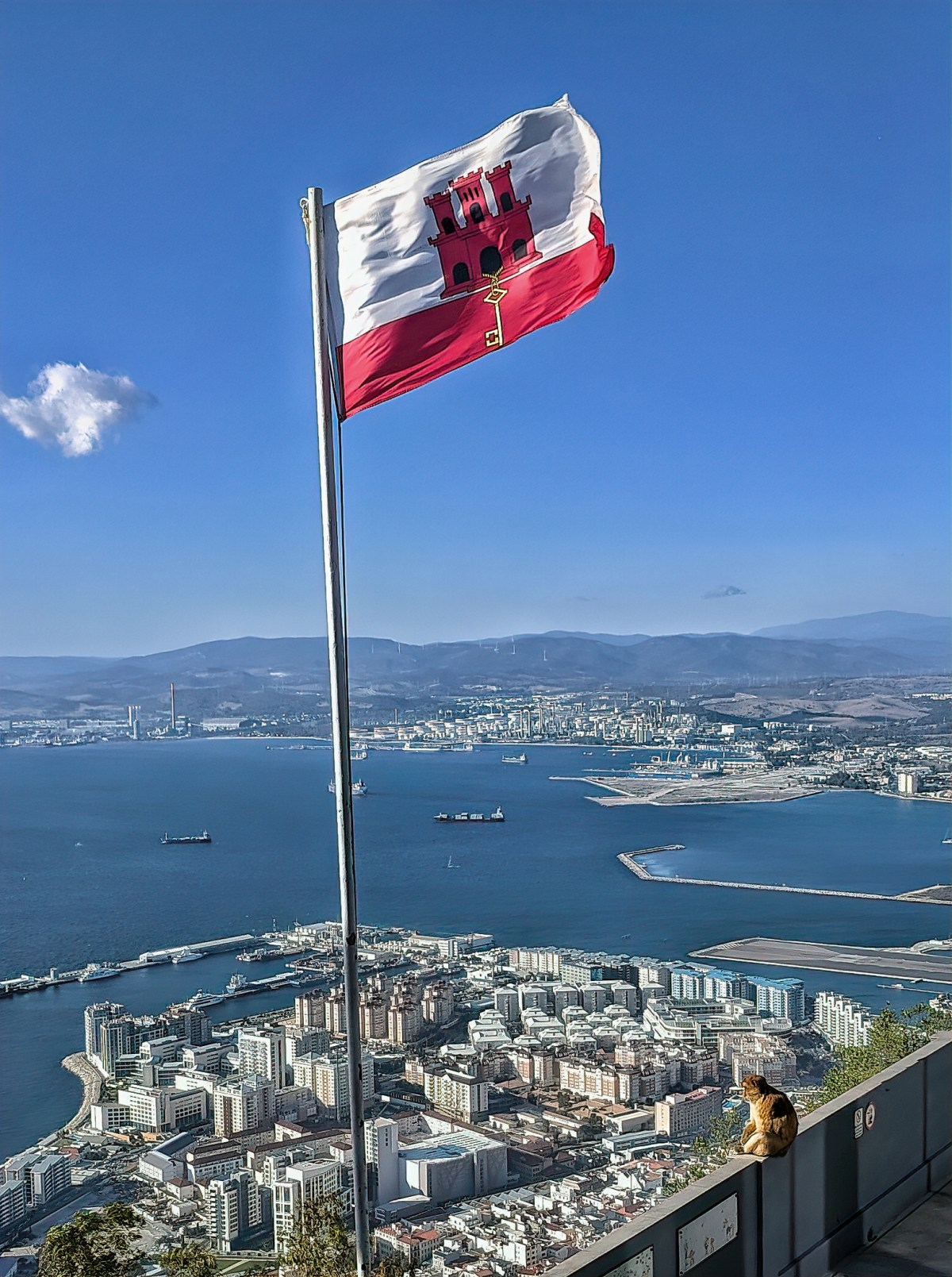 Flag of Gibraltar.