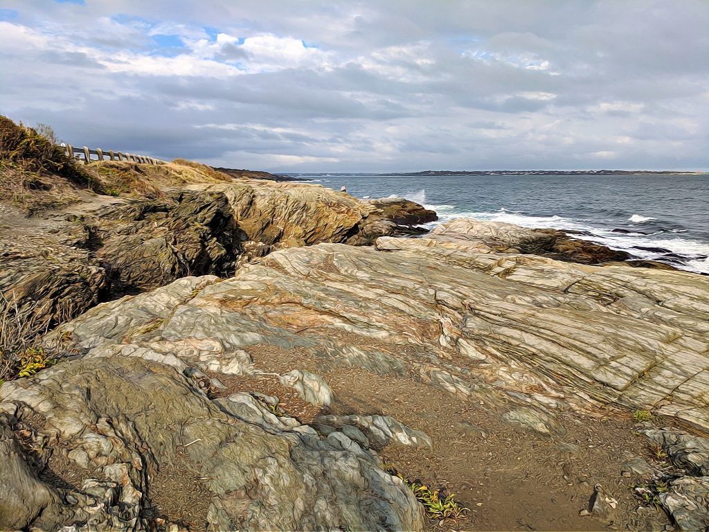 Beavertail State Park- Yellowish rocks.