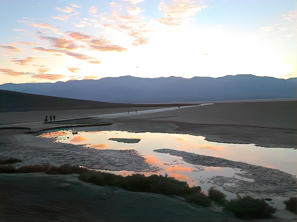 Badwater Basin at Death Valley National Park.