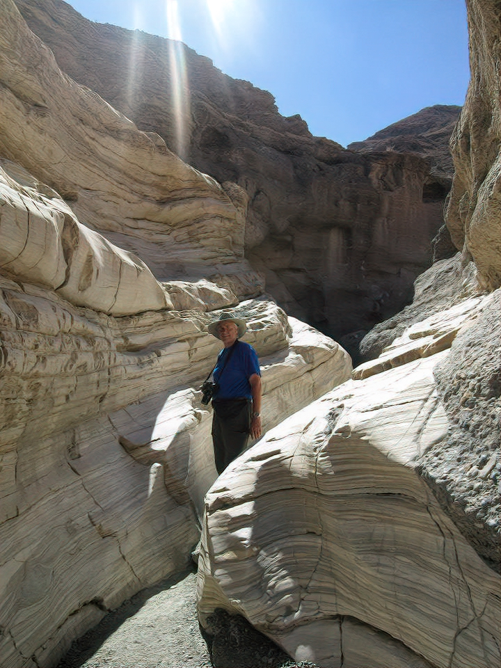 Hiking Mosaic Canyon is doable even in the summer thanks to some shade.