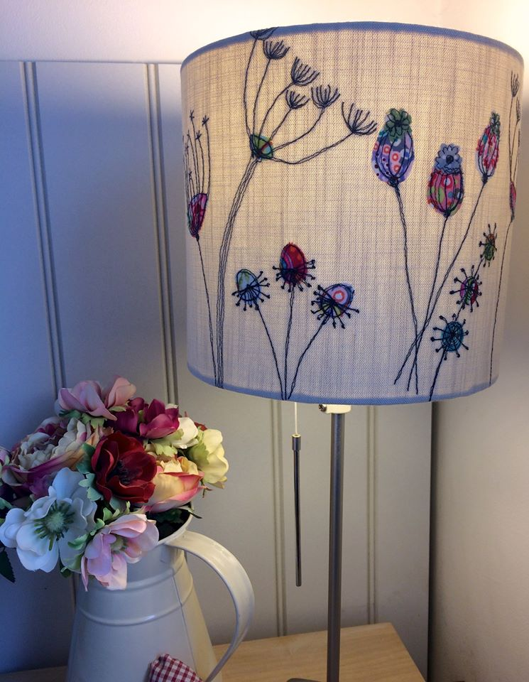 Freemotin embroidery lampshade