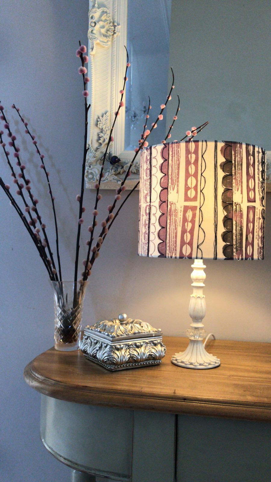 handmade lampshade, sewing retreat, devon, Totnes, Sewing, Lampshade