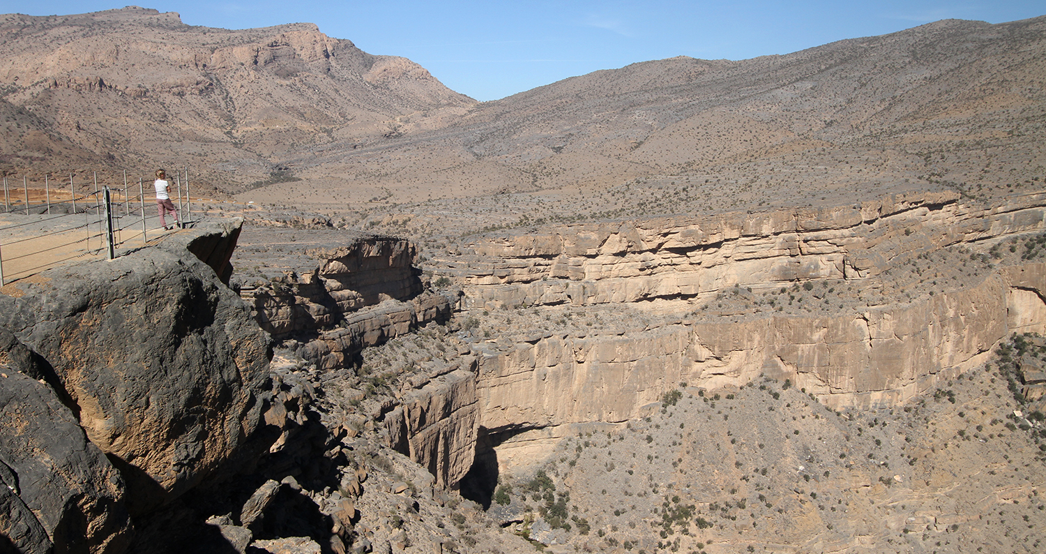 Jebel Shams - Grand Canyon van Oman