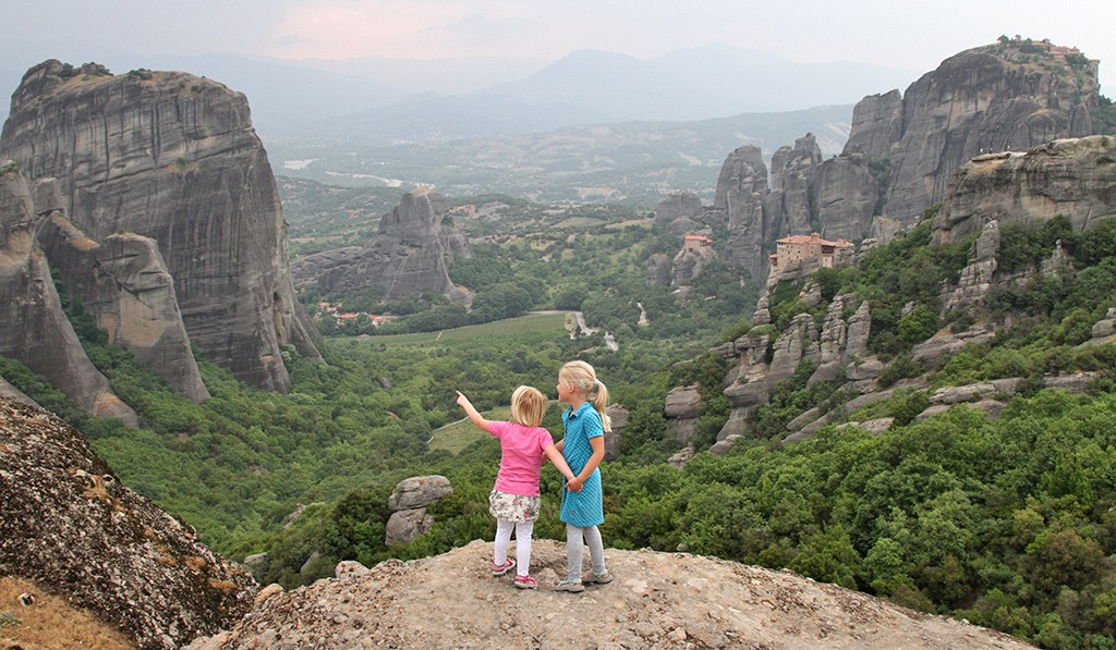Meteora viewpoint naast sunset point