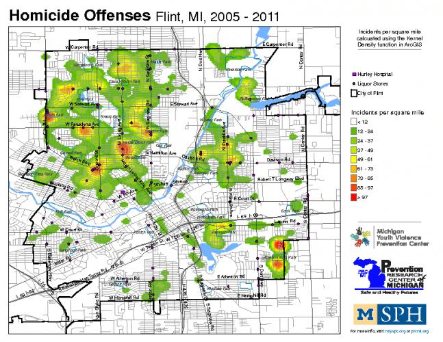 Homicide Offenses w/ Liquor Stores (2005-2011)
