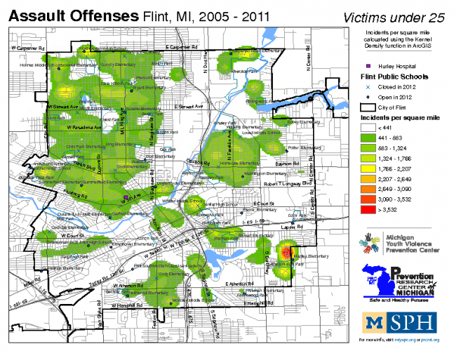 Assault Offenses, Victims under 25 (2005-2011)