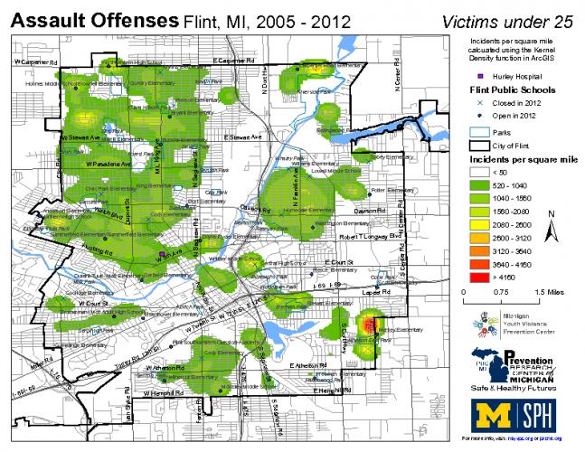 Assault Offenses, Victims under 25 (2005-2012)