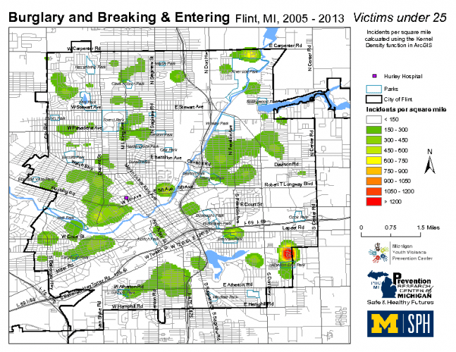 Burglary & Breaking and Entering, Victims under 25 (2005-2013)