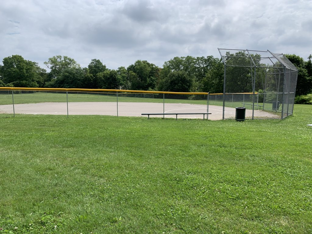 A photo of the baseball field in Hardenbrook Park, Flint, MI. The Northern Class of 1977 community members have been maintaining this park for years.