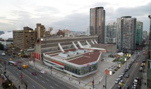 THE FLASH in Downtown Vancouver at CBC Vancouver
