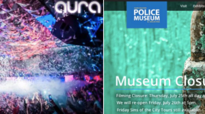 SUPERGIRL in Downtown Vancouver in Aura Nightclub & Vancouver Police Museum