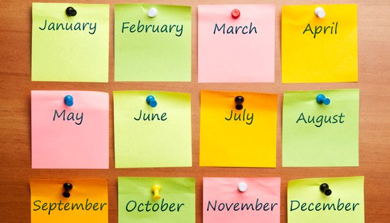 postit notes calendar