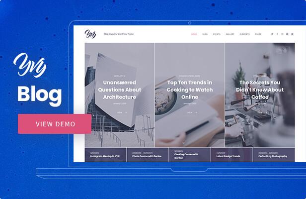 Yvy — Blog WordPress Theme