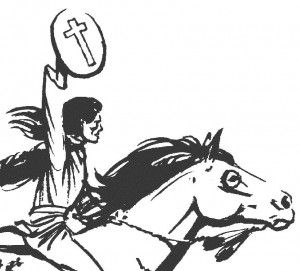 Rider with the cross