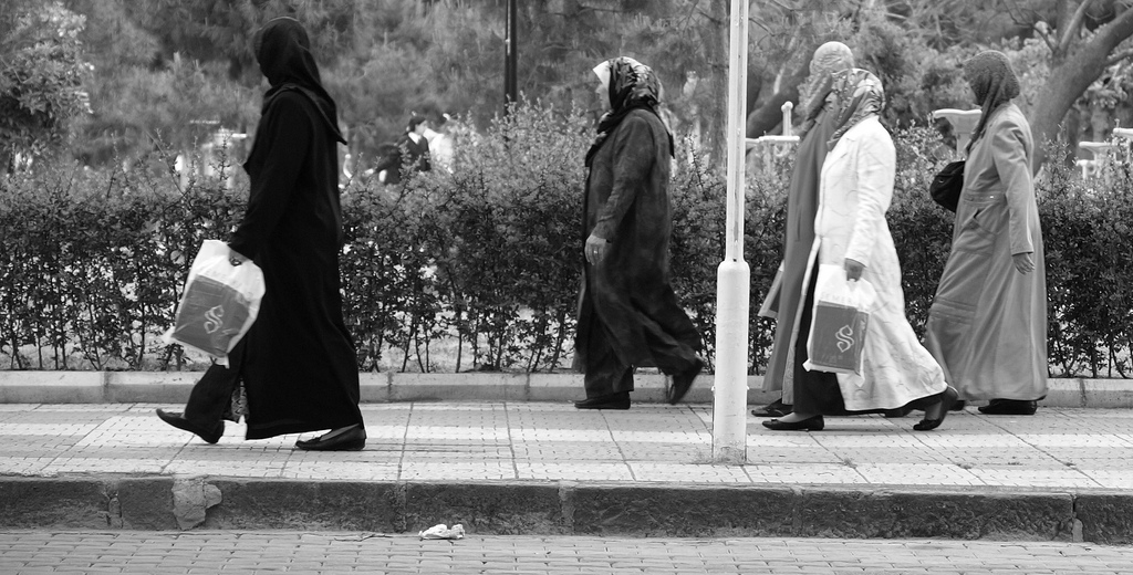 Turkish women coming from the market