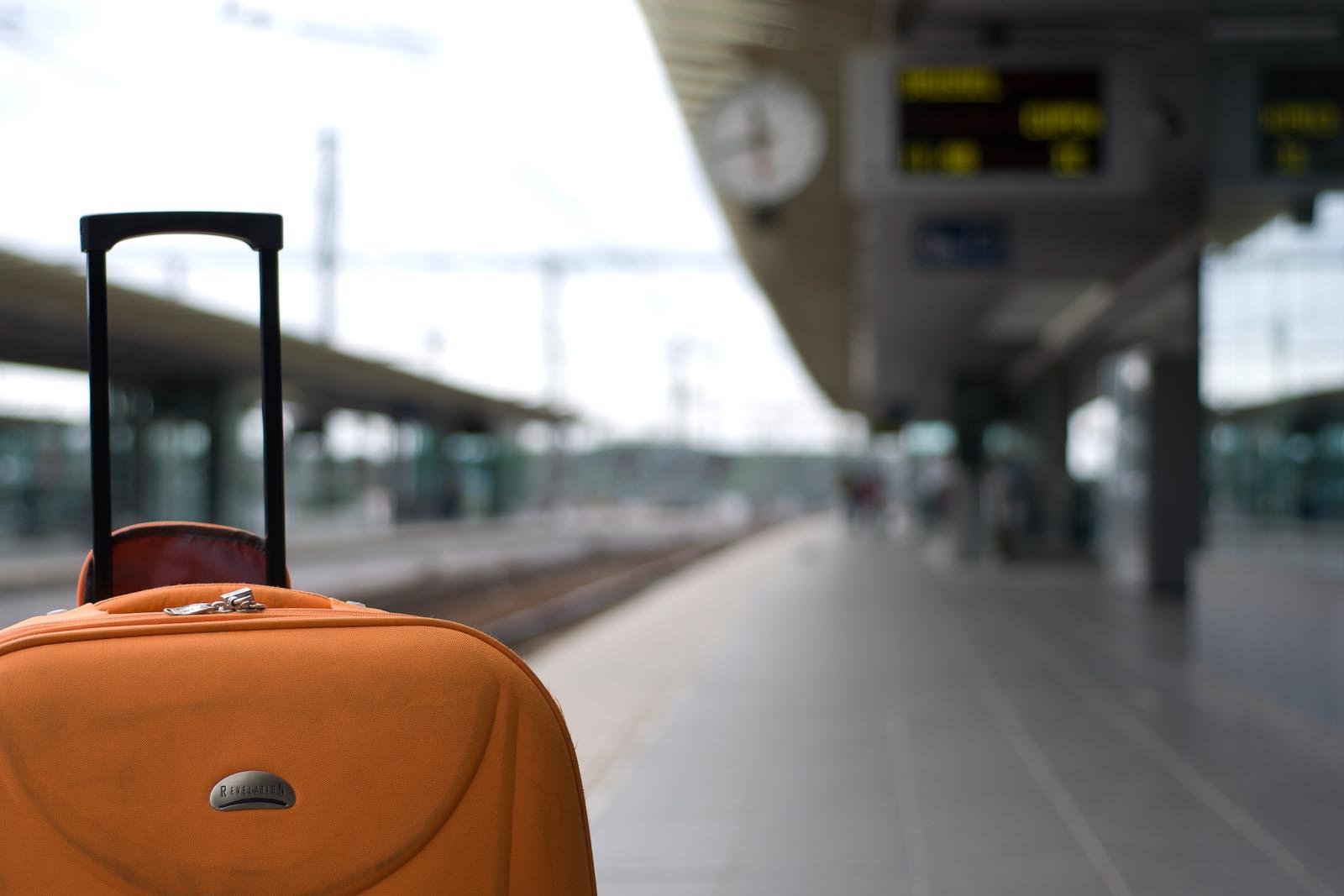 Suitcase on the platform | YWAM Sydney, Newtown | Australia
