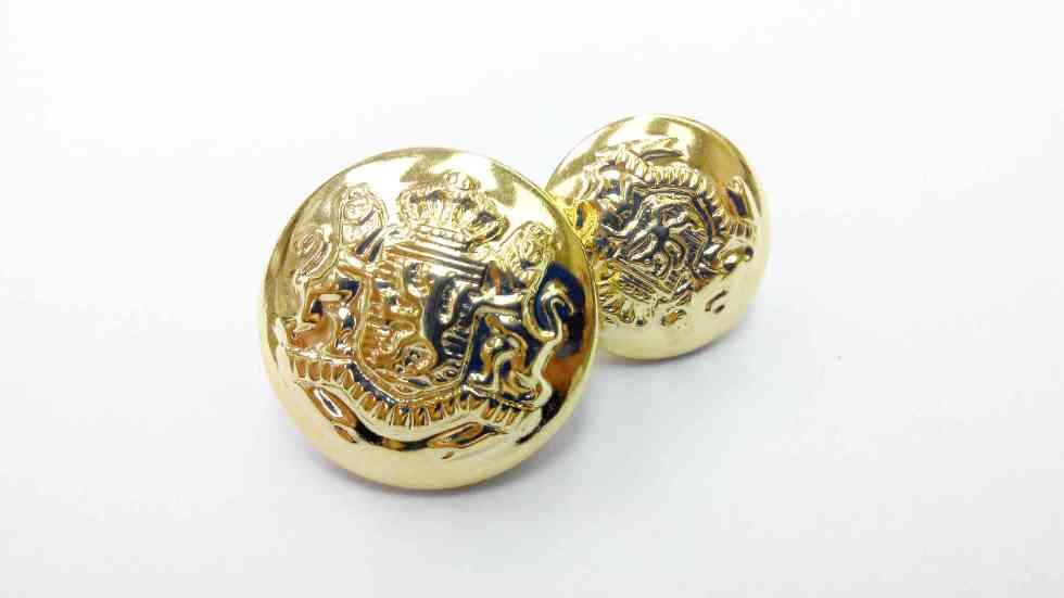 Metal Blazer Buttons - BZ106 - Gold