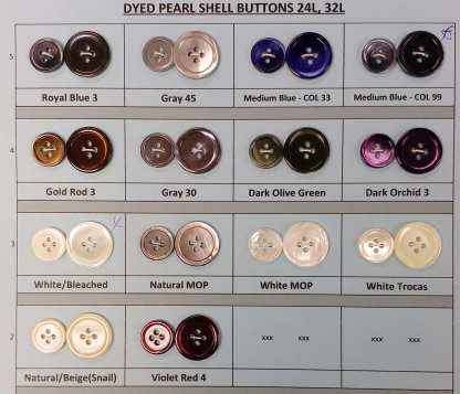 Dyed Pearl Suit Buttons - many colors