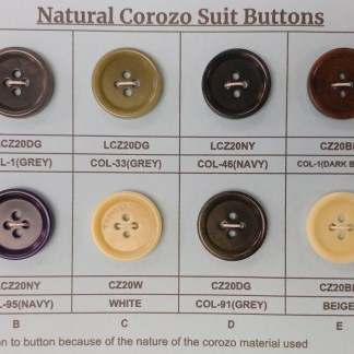 Corozo Suit Buttons