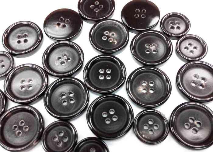 Black Buffalo Horn Buttons for men's suits