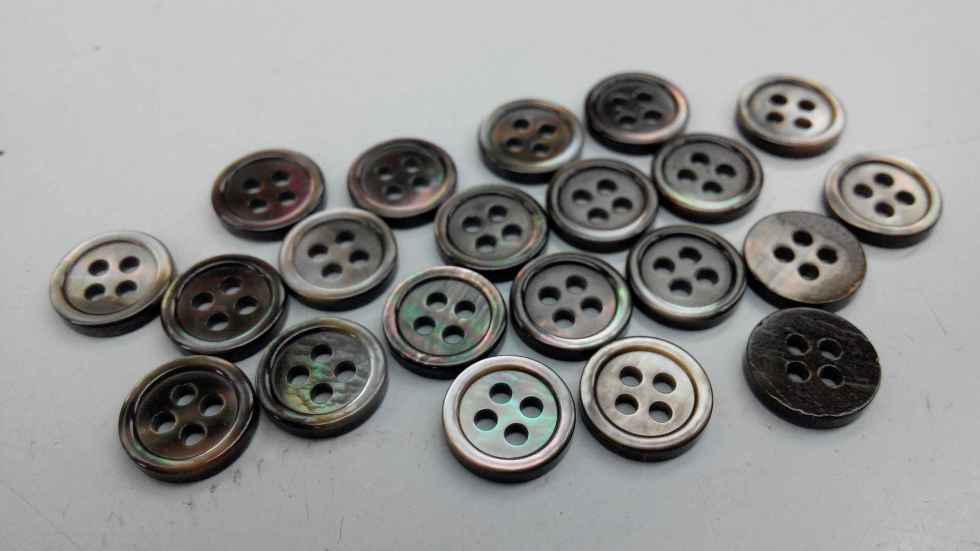 Smoke Mother of Pearl Shirt Buttons