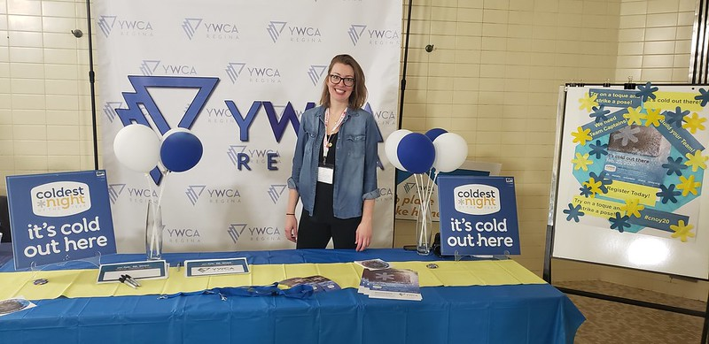 YWCA Regina Coldest Night of the Year promo at Women's March 2020