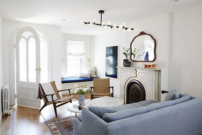 Inside a Perfectly Moody Fort Greene Townhouse • on @SavvyHome