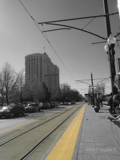 Waiting for the train to downtown