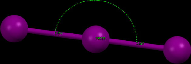 Struktura trijodidového aniontu