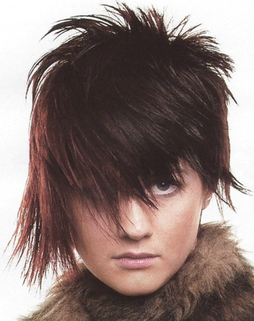 short punk hair style for girls looking crazy
