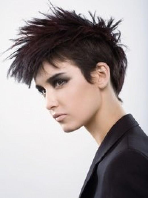 short punk hair styles with a boyish look