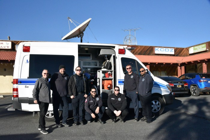 12.22.17 - Morongo Basin Ambulance filled an ambulance with toys for Mara's Christmas Wish.