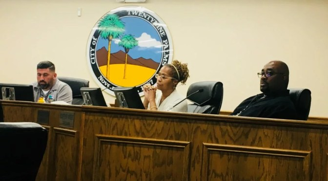 TWENTYNINE PALMS CITY COUNCIL: RECOGNITIONS, BUDGETS AND GOOD NEWS