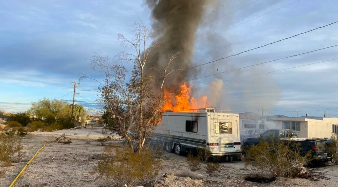 FIREFIGHTERS BUSY WITH FOUR FIRES THROUGHOUT MORONGO BASIN