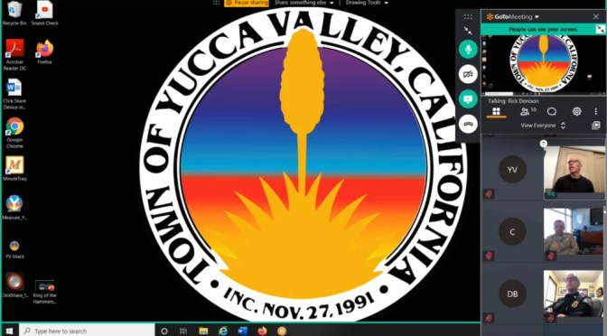 YUCCA VALLEY TOWN COUNCIL GETS A COVID-19 UPDATE