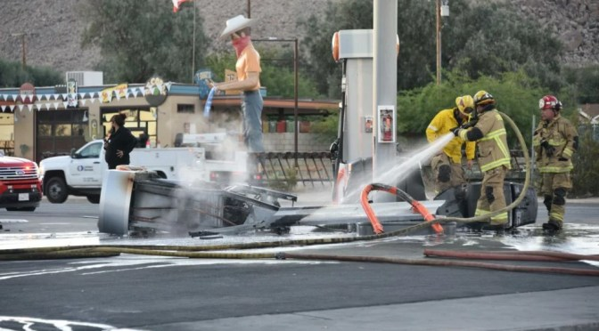 DROWSY DRIVER CAUSES FIRE AND MULTI-VEHICLE CRASH FIRE IN JOSHUA TREE