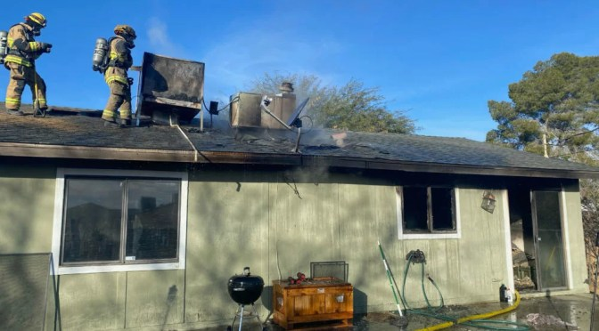 FOUR HOMELESS AFTER A FIRE IN TWENTYNINE PALMS SATURDAY