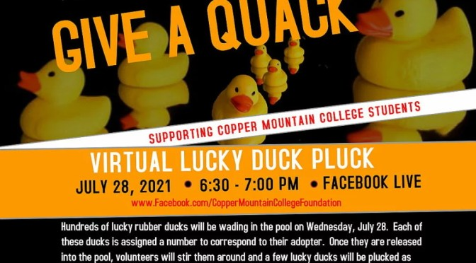 """CMC FOUNDATION HOSTING SECOND ANNUAL """"DUCK PLUCK"""" FUNDRAISER"""