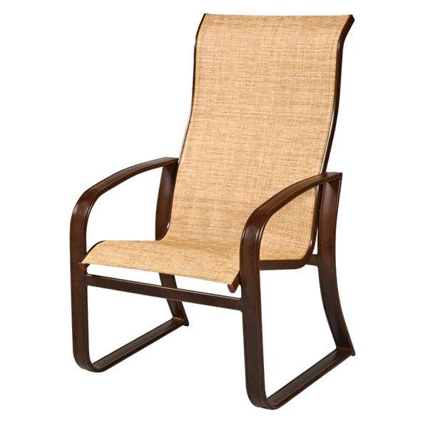 cayman isle sling hi back dining chair